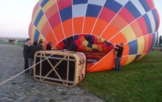 Ballonfahrten Dresden | Füllen mit kalter Luft