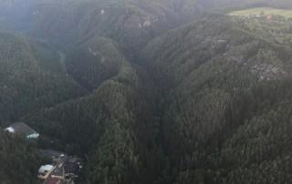 Ballonfahrten Sächsische Schweiz | Blick über die markanten Sandsteinfelsen