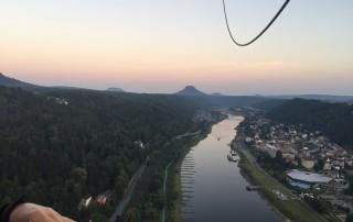 Ballonfahrten Sächsische Schweiz | Blick zum Lilien-, und Königstein