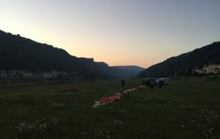 Ballonfahrt Sächsische Schweiz | Start in Krippen