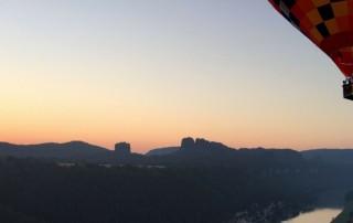 Ballonfahrt Sächsische Schweiz | kurz nach dem Start