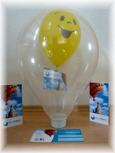 Ballonfahrten Gutschein im Luftballon