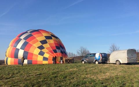 Ballonfahrt Aufbau